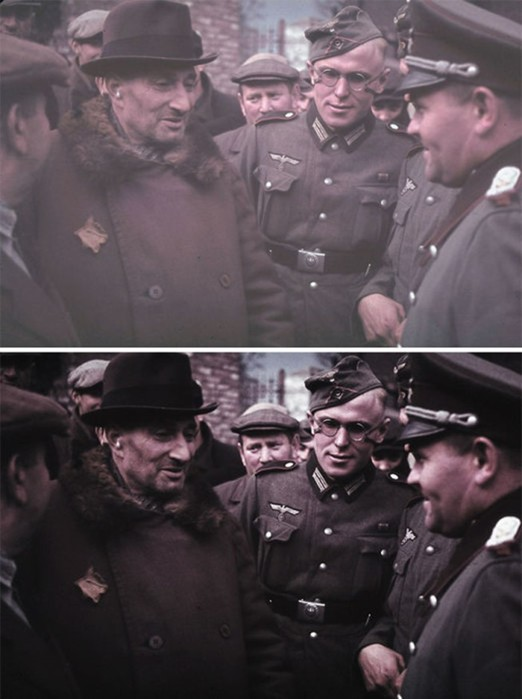 Нацизм— это страшно: фотограф раскрашивает старые снимки о Холокосте