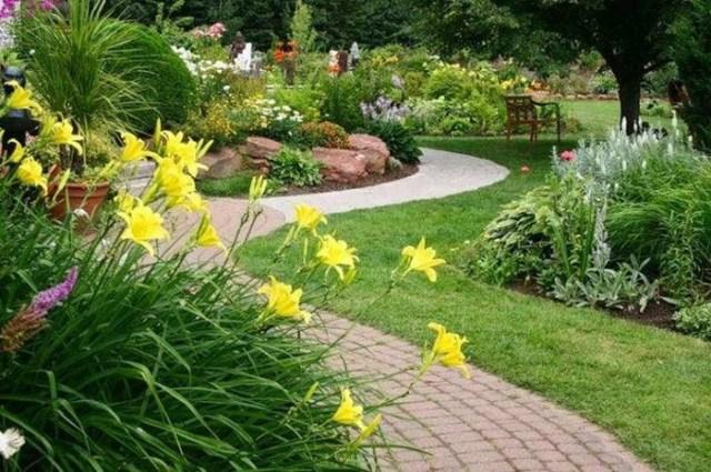 Как выглядит сад в пейзажном стиле