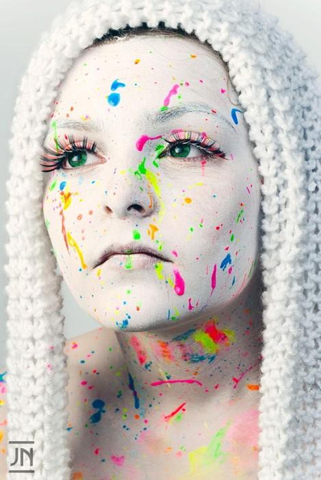 Причудливый фейспейнтинг: 40 портретов с разрисованными лицами