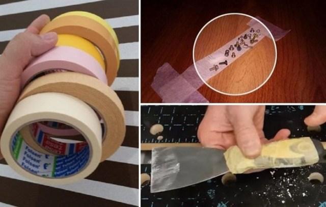 5 нестандартных применений малярной ленты во время ремонта