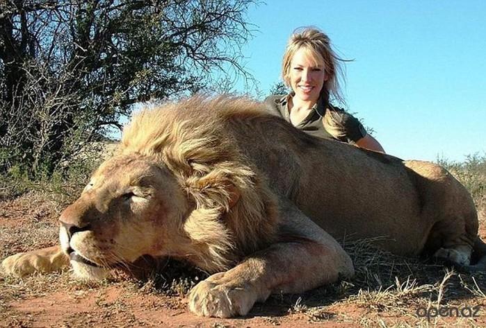 Фотографии девушек охотниц с убитыми животными