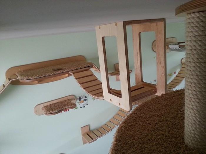 Дизайн. Мебель под потолком для любимого кота