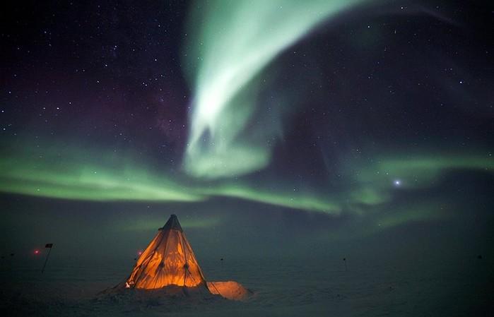 Пожар в небесах! Прекрасное северное сеяние
