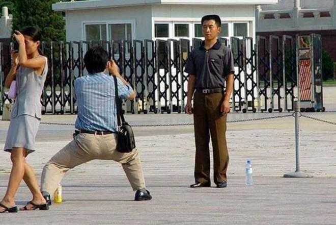 Смешные фотографии, как китайские туристы снимают достопримечательности