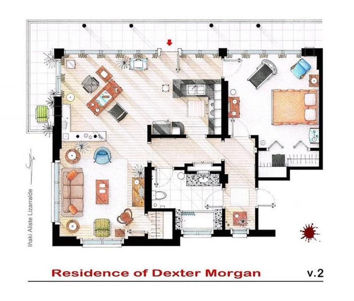 Планы квартир, в которых живут герои фильмов и сериалов