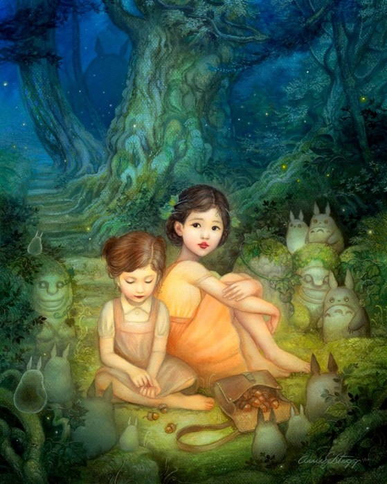 Художница Энни Стегг: мир сказочных героев и прекрасных девушек