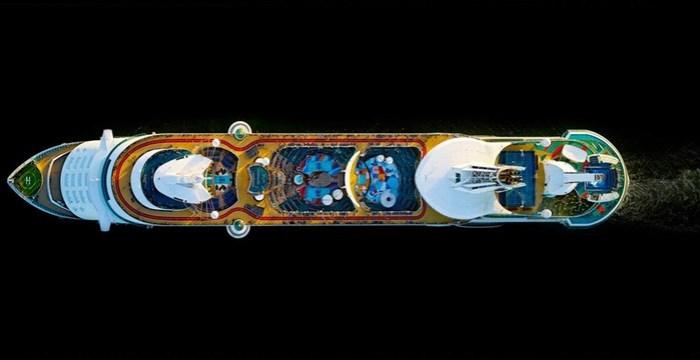 Как выглядят круизные лайнеры с высоты