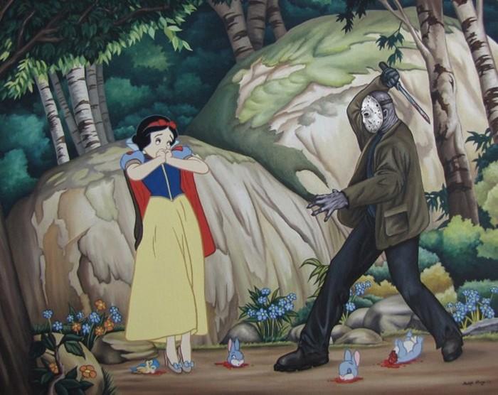 Диснеевские герои против кинозлодеев: порция шокирующих картин