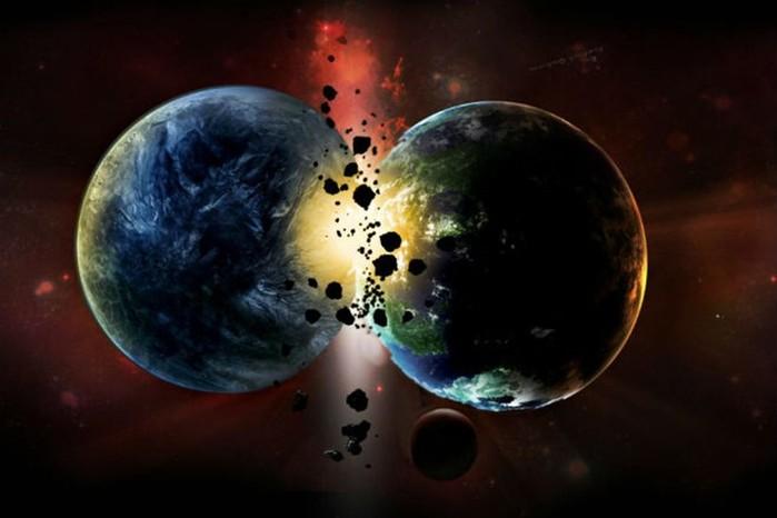 Ученые показали модель столкновения двух планет