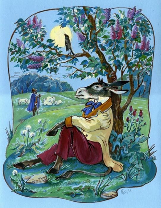 Иллюстрации по басням Крылова