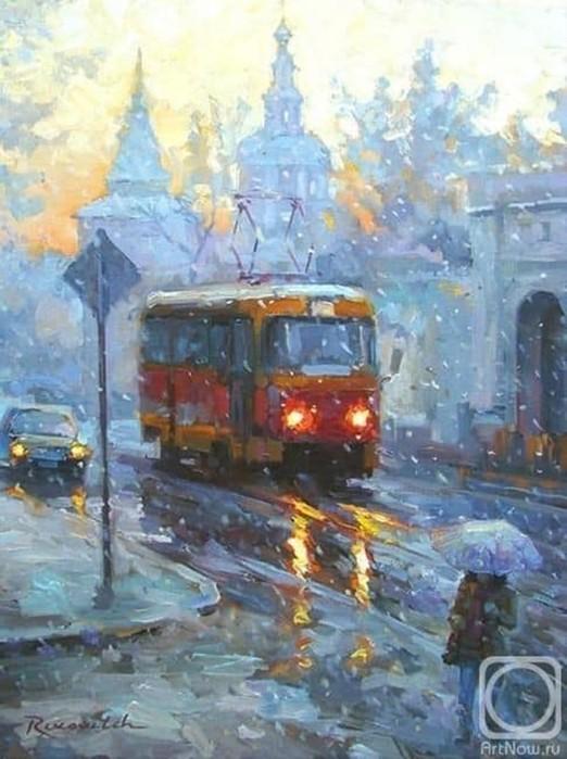 Трамвай в живописи   картины