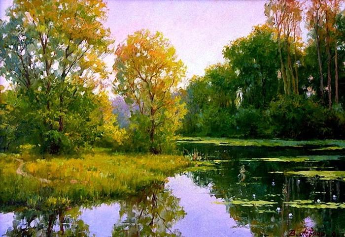 Осенние пейзажи Виктории Лёвиной