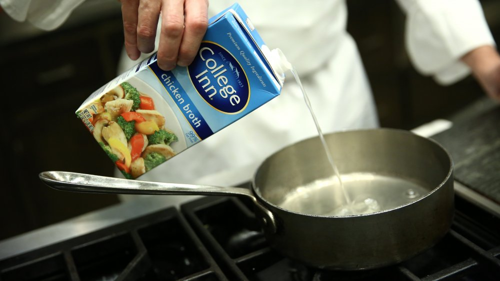 Here's what you can substitute for chicken broth
