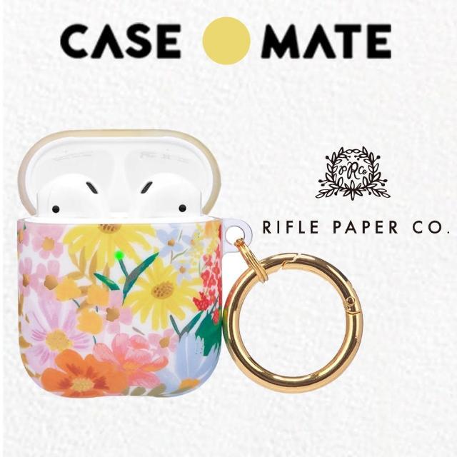 【CASE-MATE】AirPods 1-2代 抗菌保護套 贈扣夾 - Rifle Paper Co.聯名款(瑪格麗特)