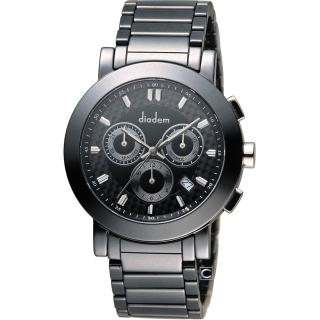 【Diadem】黛亞登 巴黎時尚計時陶瓷腕錶(8D1407-631D-D)