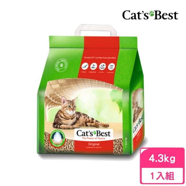 【CAT'S BEST 凱優】優質凝結木屑砂《紅標》10L(4.3kg)