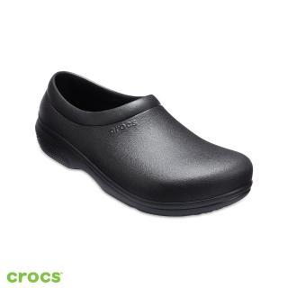 crocs kitchen shoes portable 工作鞋 crocs男鞋 品牌旗艦 momo購物網 中性鞋克駱格工作鞋 205073 001