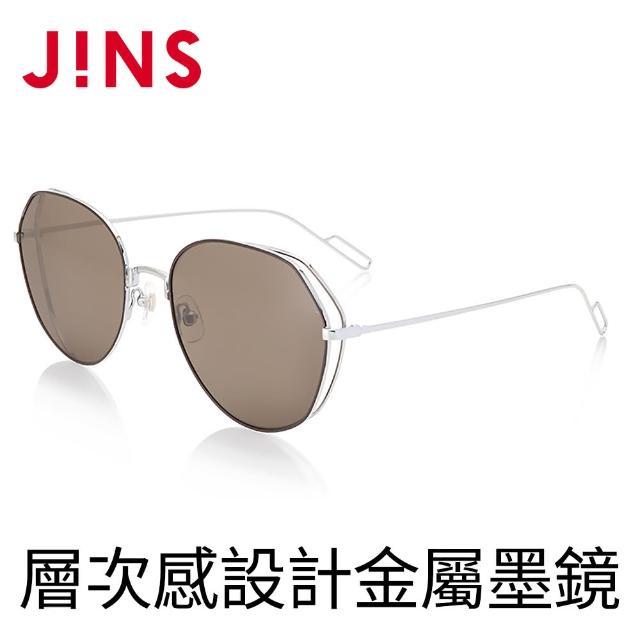 【JINS】層次感設計金屬墨鏡(ALMF19S022)