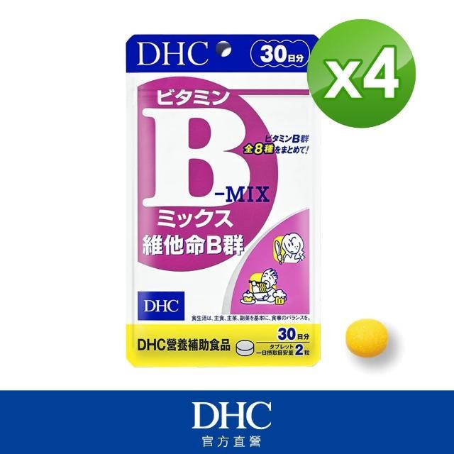 【DHC】維他命B群 30日份(60粒/包)*4包組 - momo購物網