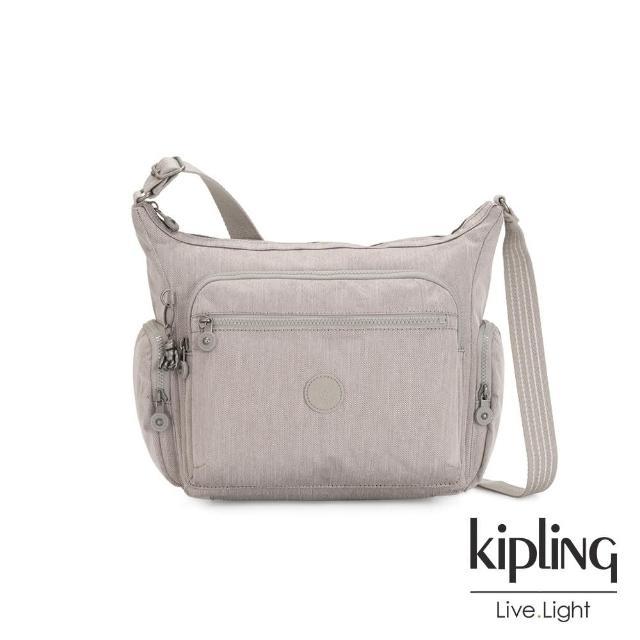 【KIPLING】溫柔燕麥色多袋實用側背包-GABBIE
