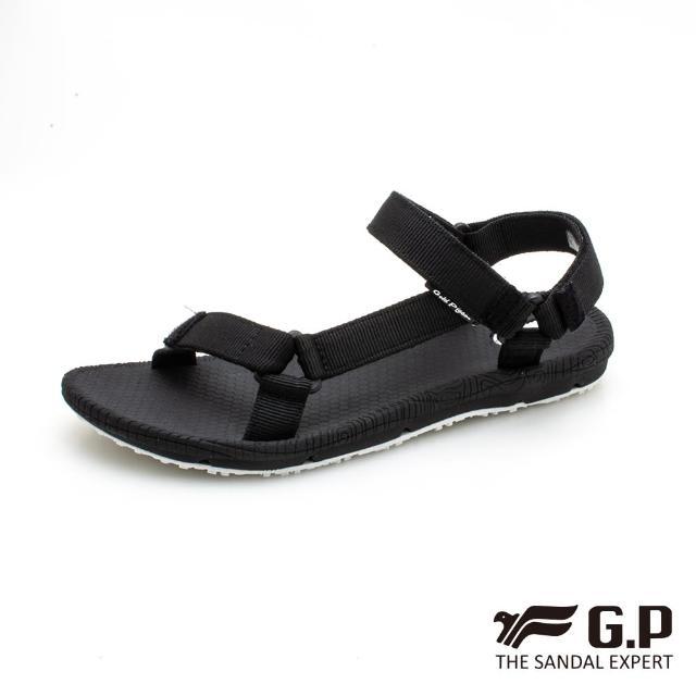 【G.P】女 簡約織帶涼鞋 女鞋(黑)