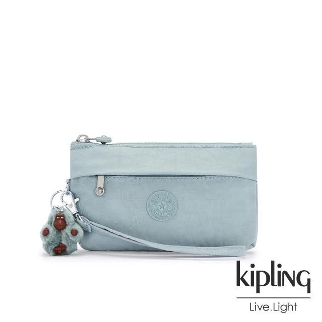 【KIPLING】歡樂繽紛藍手拿配件包-NIYLAH
