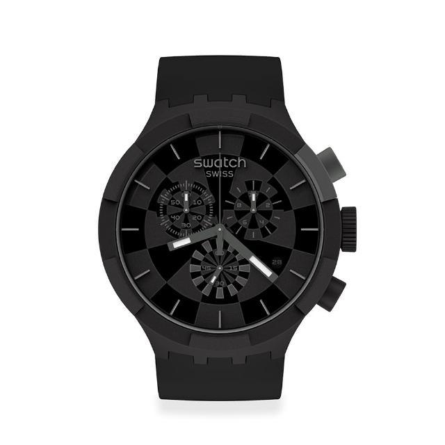 【SWATCH】BIG BOLD系列手錶 CHECKPOINT BLACK(47mm)