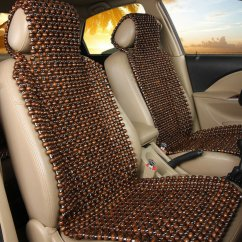 Office Chair Seat Cover Black Banquet Covers Natural Wood Wooden Beaded Massage Cool