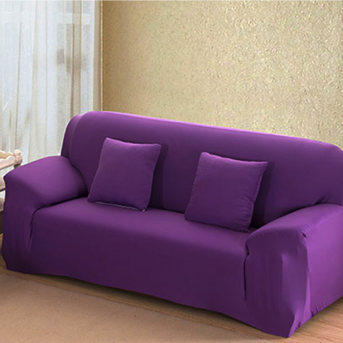 purple sleeper sofa slipcover best quality cheap sofas 4 size stretch fit cover couch easy removable