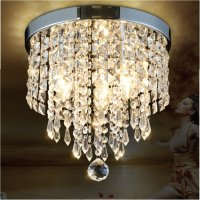 Pendant Ceiling Lamp Crystal Ball Fixture Light Chandelier ...
