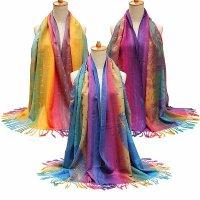 Women Cotton Bohemian Style Scarves Stole Shawl Wrap Scarf ...