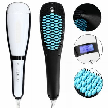 Electric LCD Spray Fast Hair Straightener Comb New Chic