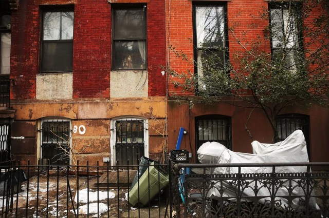 Two homes sit side-by-side in Fort Greene, Brooklyn