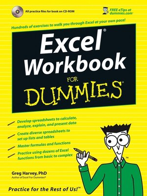 Excel Workbook For Dummies by Greg Harvey  OverDrive