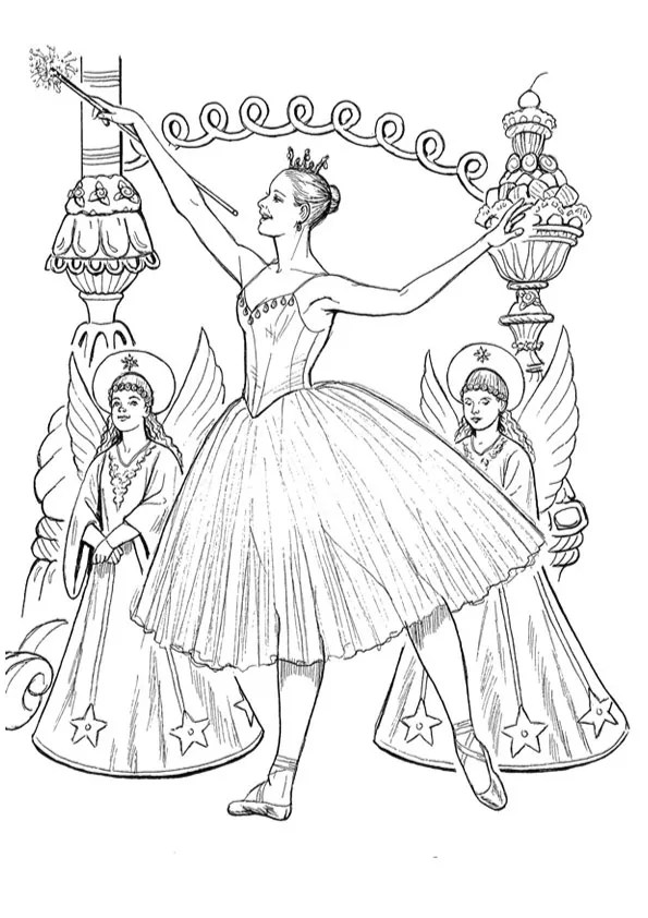 Free & Printable nutcracker ballet coloring pages Coloring