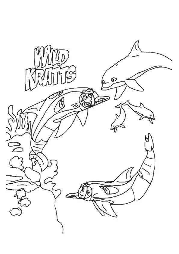 Free & Printable Underwater Wild Kratts Coloring Picture
