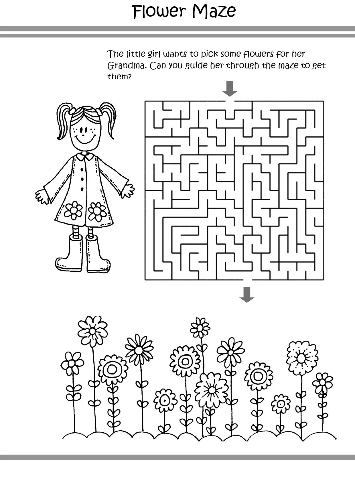 Free Amp Printable Flower Puzzle Coloring Picture