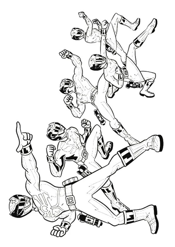 Free Printable Powerrangers-megaforce Coloring Pages