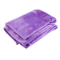 Comfortable Soft Plain Flannel Throw Over Large Decorative ...