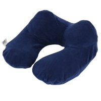 New U-Shape Travel Pillow for Airplane Inflatable Neck ...