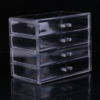 Acrylic Makeup Organizer Drawer Case Cosmetic Storage Box ...