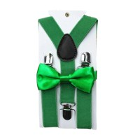 Polyester Kids Design Suspenders and Bowtie Bow Tie Set ...