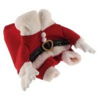 Holiday Seasons Dog Pet Santa Costume Clothes and Cap KE
