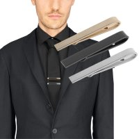 Business Men Fashion Simple Suit Tie Clip Necktie Tie