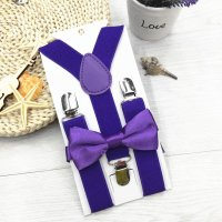 Kids New Design Suspenders and Bowtie Bow Tie Set Matching ...