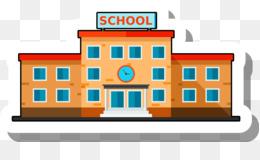 21 Gambar Kartun Bangunan Sekolah Kumpulan Gambar Kartun