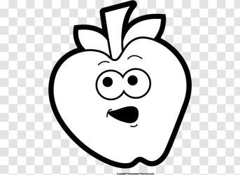 Black And White Apple Clip Art Fruit Cliparts Transparent PNG