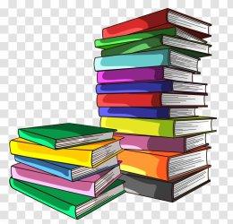 Book Clip Art Material Pile Of Books Transparent PNG