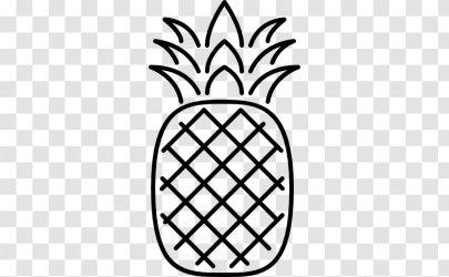 Pineapple Outline Symmetry Leaf Transparent PNG