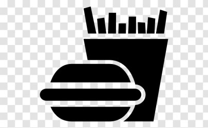 French Fries Hamburger Fast Food Fizzy Drinks Junk Monochrome Photography Vector Transparent PNG